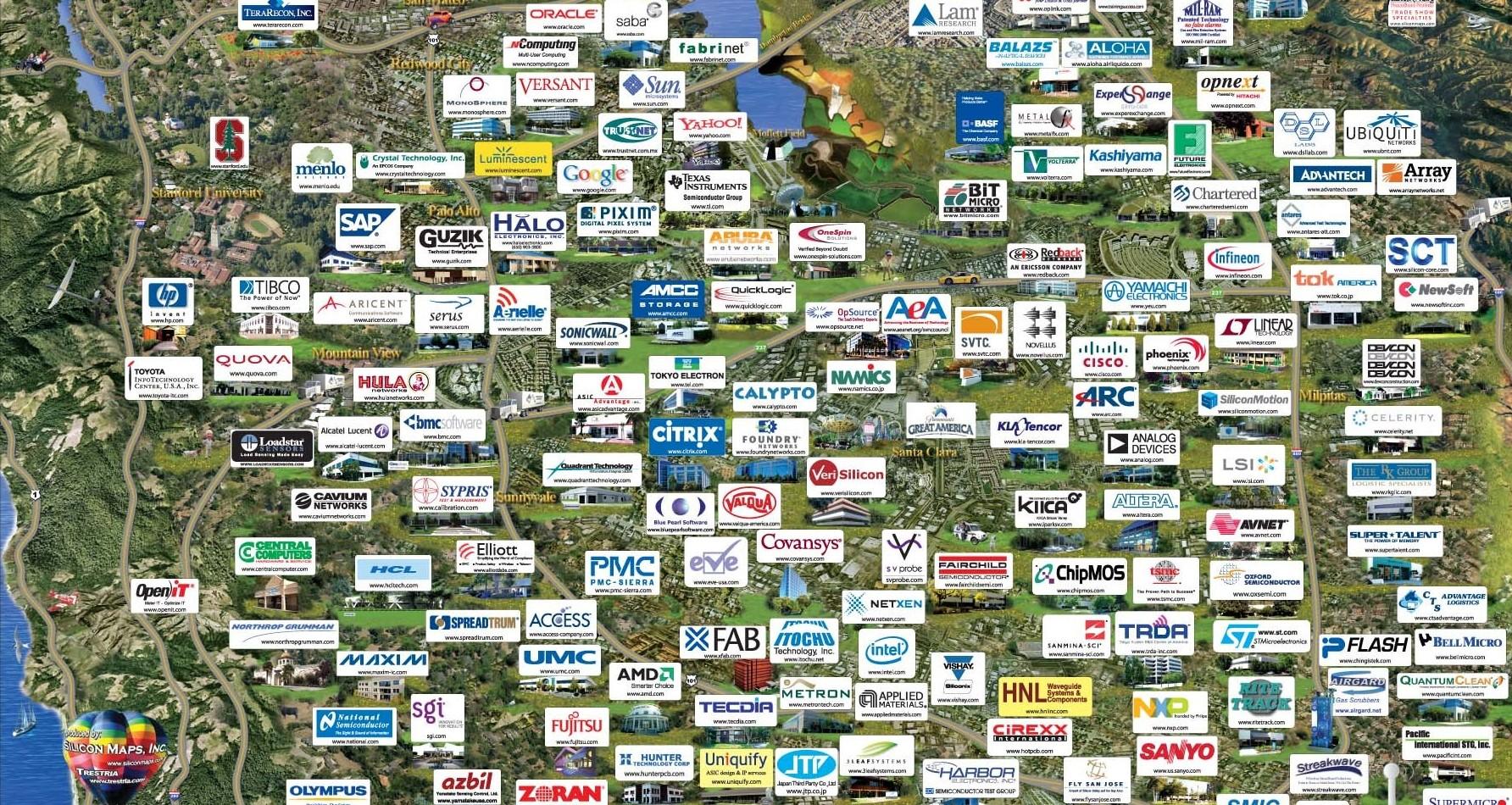 Silicon Valley Karte.Silicon Valley Die Zukunft Des Us Amerikanischen Hightec S